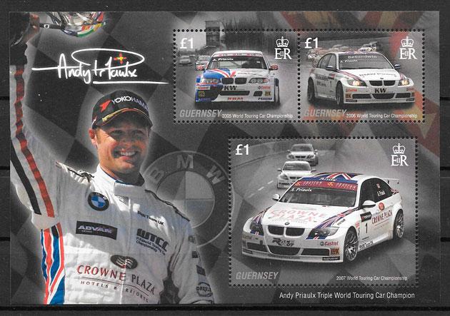 colección sellos deporte Guersey 2008