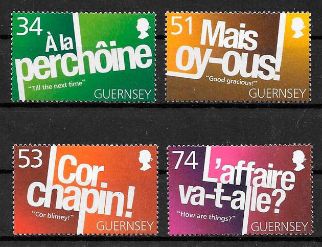 filatelia colección temas varios Guernsey 2008