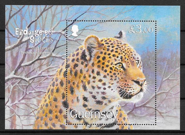 colección sellos fauna Guersey 2009