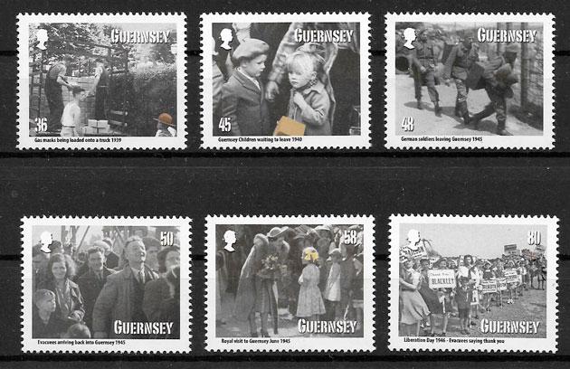 sellos temas varios Guernsey 2010