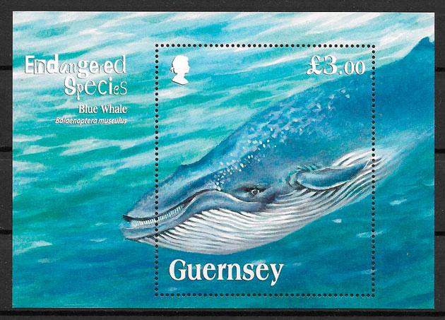 filatelia fauna Guersey 2011