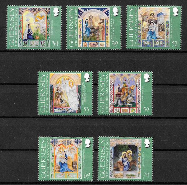 colección sellos navidad Gurensey 2012