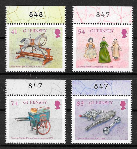 sellos temas varios Guernsey 2015