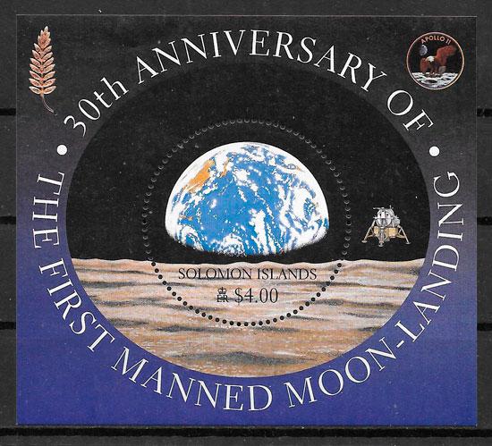 sellos espacio Salomon Islands 2000