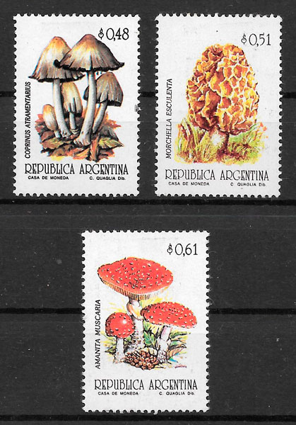 sellos setas Argentina 1992
