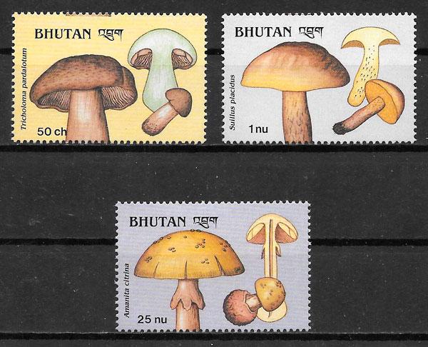 sellos setas Bhutan 1989
