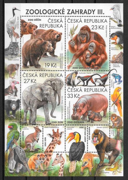 filatelia fauna Chequia 2018