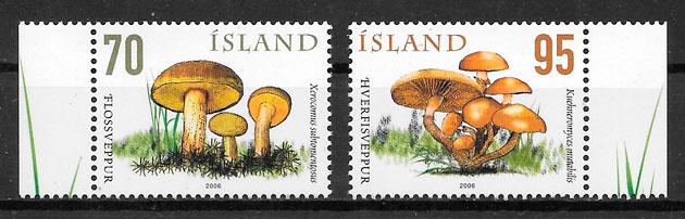 filatelia setas Islandia 2006