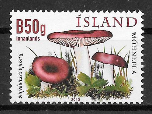 filatelia colección setas Islandia 2012
