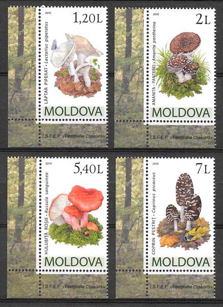 sellos setas Moldavia 2010