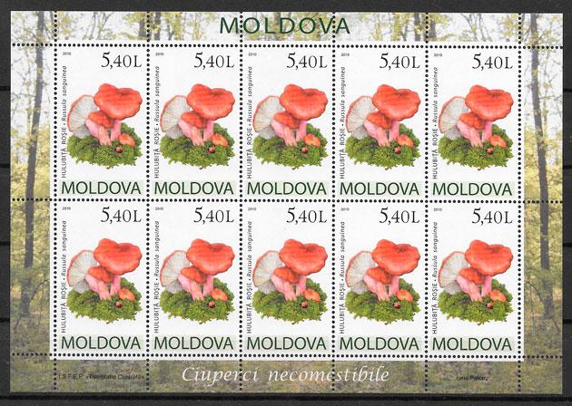 filatelia setas Moldavia 2010