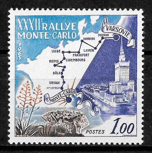colección sellos deporte mónaco 1963