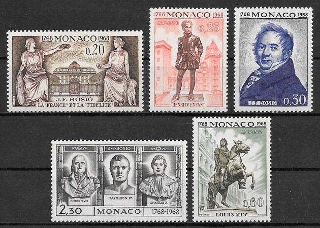 sellos personalidades Mónaco 1968
