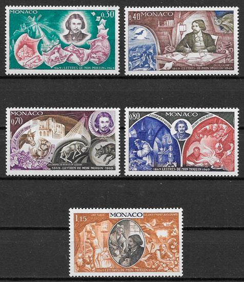 sellos personalidades Mónaco 1969
