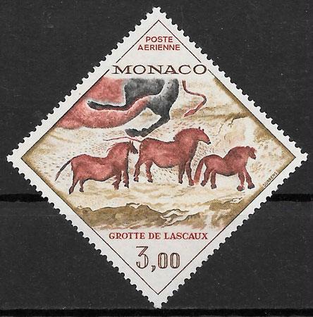 sellos fauna Mónaco 1970