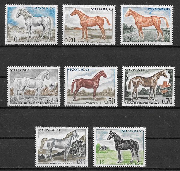 sellos fauna monaco 1970