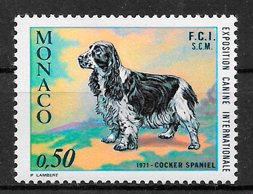 sellos perros Monaco 1971
