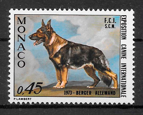 filatelia perros Monaco 1972