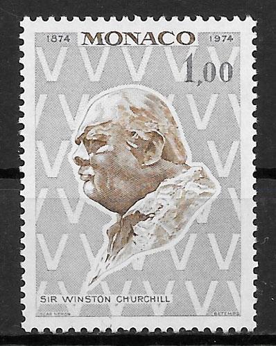 filatelia personalidad Mónaco 1974