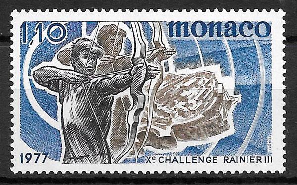 filatelia colección deporte Mónaco 1977