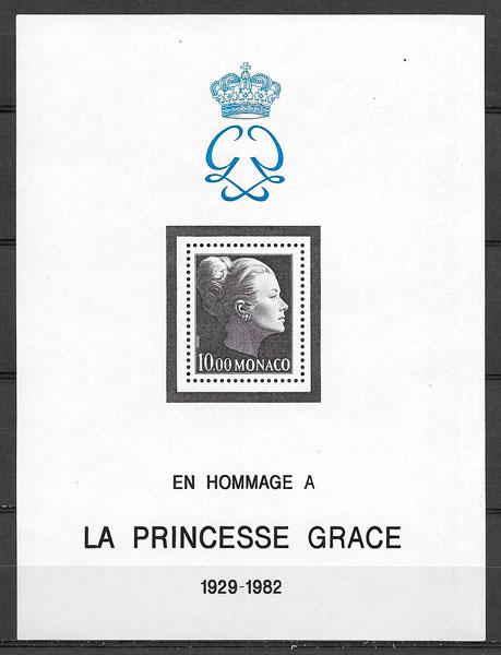 sellos personalidad Monaco 1983