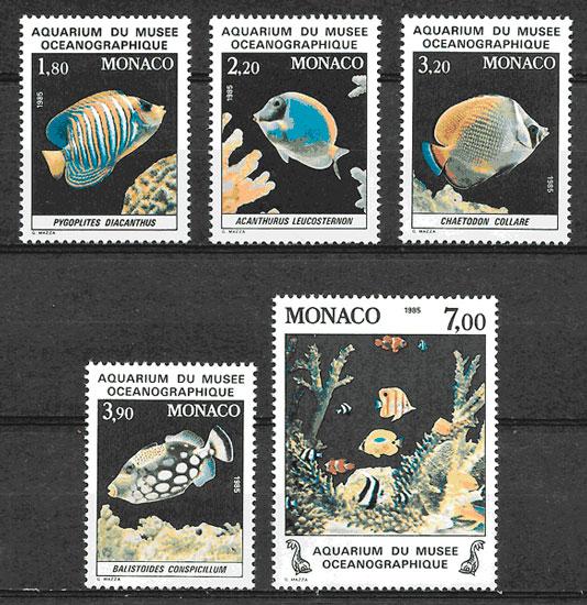 filatelia coleccion fauna 1984 Monaco