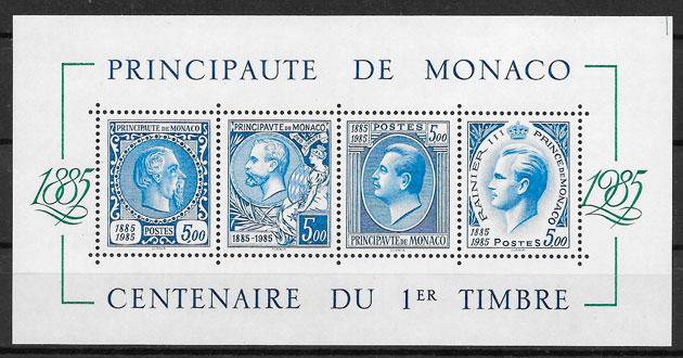 sellos personalidad Monaco 1985
