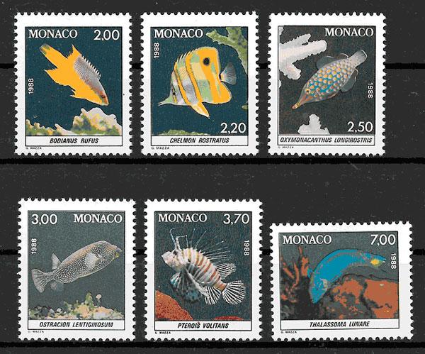 coleccion sellos Monaco 1988