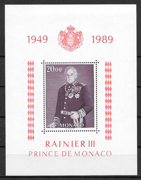 filatelia personalidad Monaco 1987
