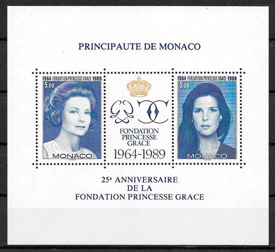 filatelia personalidad Monaco 1989