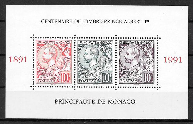 filatelia coleccion personalidad Monaco 1987