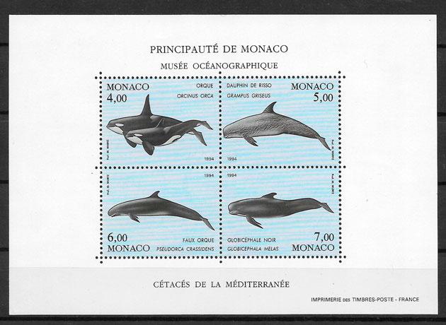 sellos fauna Monaco 1992