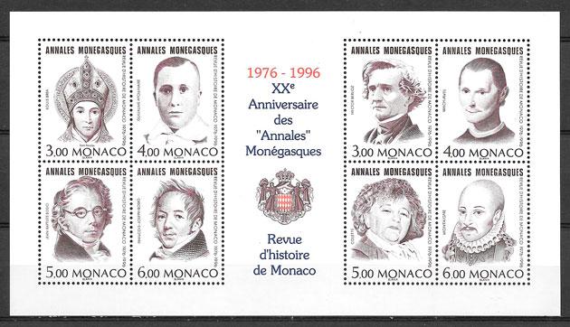 filatelia coleccion personalidad Monaco 1996