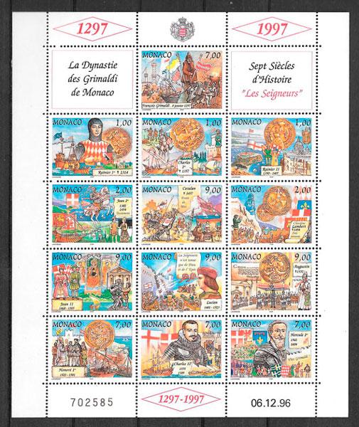 coleccion sellos personalidad Monaco 1997