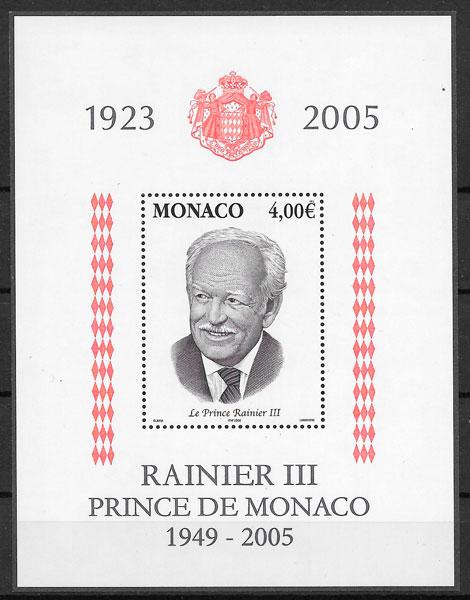 sellos personalidad Monaco 2004