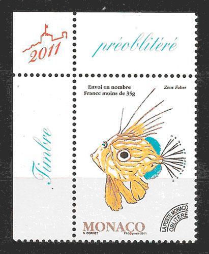 filatelia fauna Monaco 2011