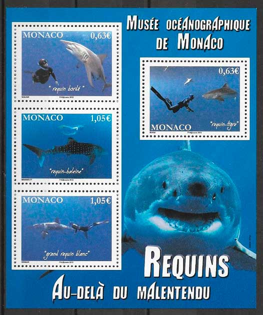 filatelia fauna Monaco 2013