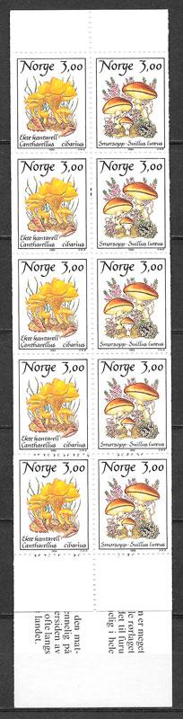 filatelia colección setas Noruega 1989