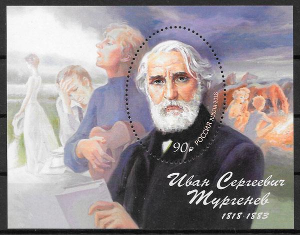 colección sellos personalidades Rusia 2018