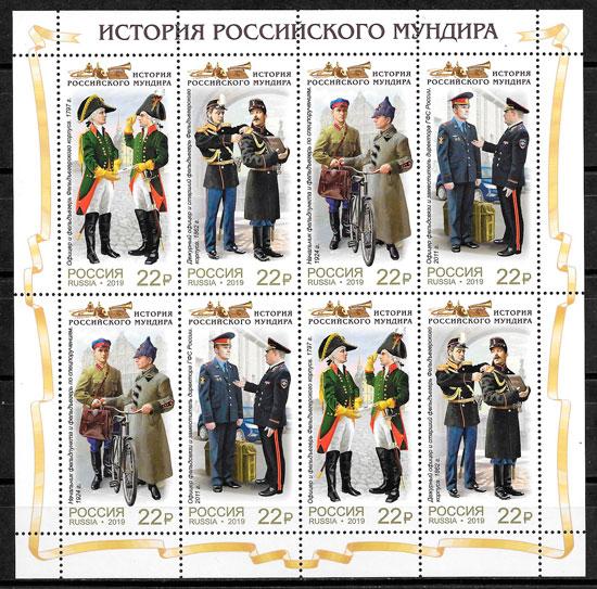 filatelia temas varios Rusia 2019