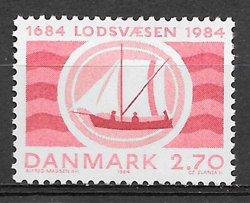 sellos transporte Dinamarca 1984
