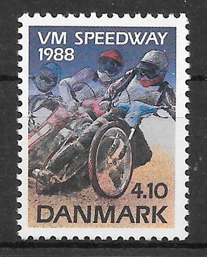 sellos deporte Dinamarca 1988