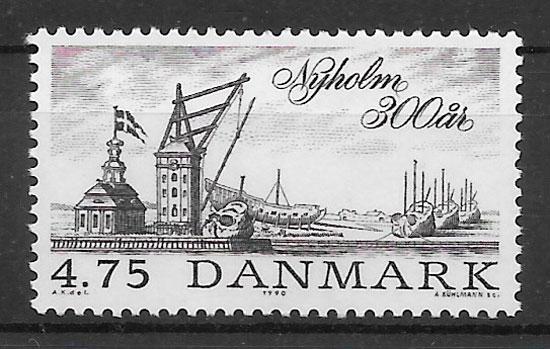 filatelia colección transporte Dinamarca 1990