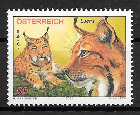 filatelia colección fauna Austria 2006