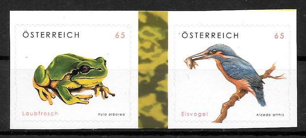 colección sellos fauna Austria 2008