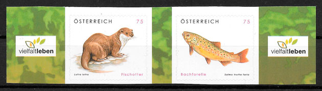 filatelia fauna Austria 2010