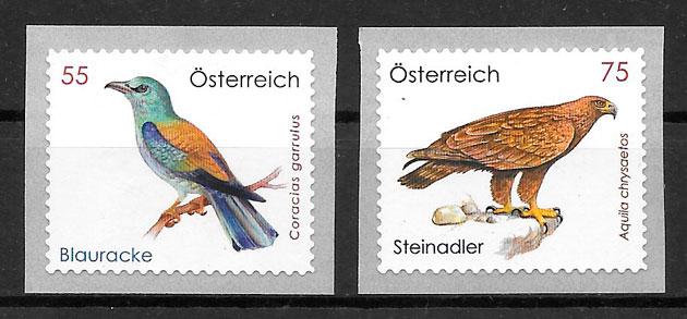 colección sellos fauna Austria