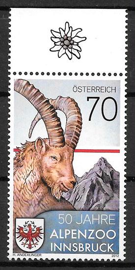 filatelia fauna Austria 2012