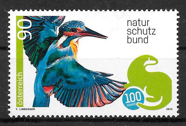 filatelia fauna Austria 2013