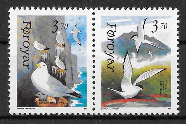 colección sellos fuana Feroe 1991